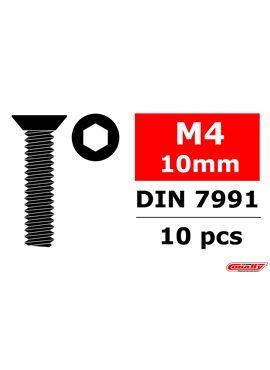 Team Corally - Staal schroeven M4 x 10mm - Verzonkenkop binnenzeskant - 10 st