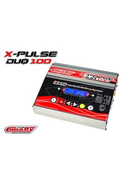 Team Corally - X-Pulse 100 Duo Charger, AC/DC, 2X100W, Lcd Screen, (2X) 2-6 Li-Xx, 1-15 Ni-Xx