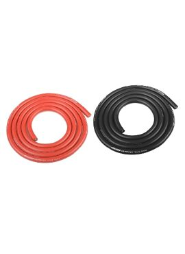 Team Corally - Ultra V+ Siliconen kabel - Super flexibel - Zwart en Rood - 10AWG - 2683 / 0.05 Strengen - BD 5.5mm - 2x 1m