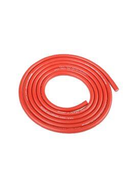 Team Corally - Ultra V+ Siliconen kabel - Super flexibel - Rood - 14AWG - 1018 / 0.05 Strengen - BD 3.5mm - 1m