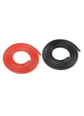 Team Corally - Ultra V+ Siliconen kabel - Super flexibel - Zwart en Rood - 14AWG - 1018 / 0.05 Strengen - BD 3.5mm - 2x 1m