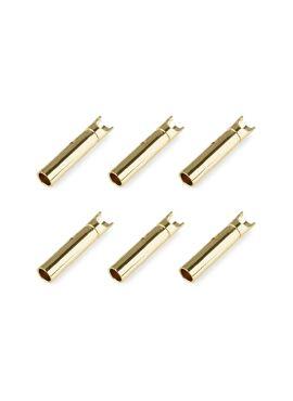 Team Corally - Bullit stekker 2.0mm - Vrouwelijk - Goud contacten - Ultra lage interne weerstand  - 6 st