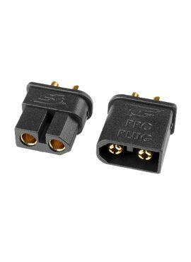 Team Corally - TC PRO stekker 3.5mm - Goud contacten - Beveiligd tegen ompolen -  Mannelijk + Vrouwelijk - 1 paar