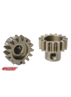 Team Corally - M1.0 Motortandwiel - Kort - Gehard staal - 15 Tanden - Motoras dia. 5mm