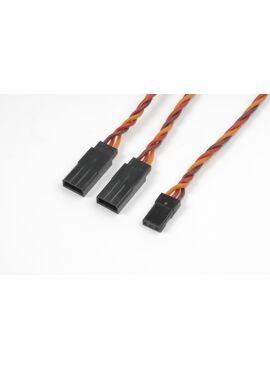 G-Force RC - Servo Y-kabel - Gedraaide kabel - JR/Hitec - 22AWG / 60 Strengen - 30cm - 1 st