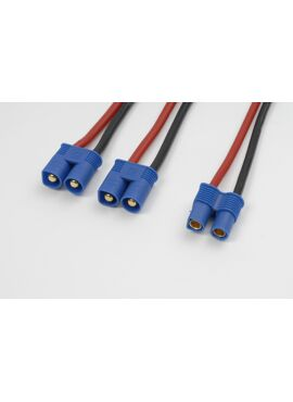G-Force RC - Power Y-kabel - Parallel - EC-5 - 12AWG Siliconen-kabel - 12cm - 1 st