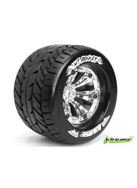 Louise RC - MT-ROCKET - 1-8 Monster Truck Banden Set - Verlijmd op velg - Medium - 3.8