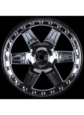 Desperado 2.8 (Traxxas Style Bead) Black Chrome Wheels (2)