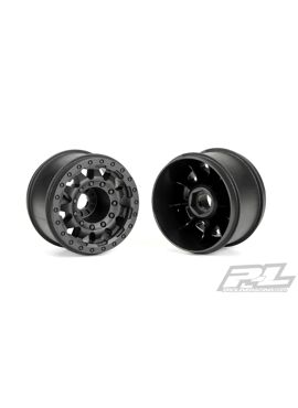 F-11 2.8 (Traxxas Style Bead) Black Wheels (2) 17mm hex for