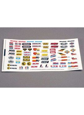 Decal sheet, racing sponsors, TRX2514
