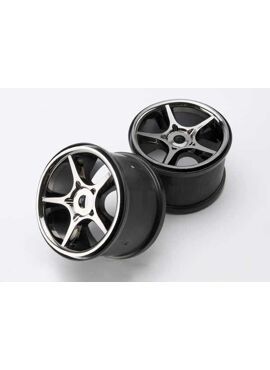 Wheels, Gemini 3.8 (black chrome) (2) (use with 17mm splined, TRX5372X