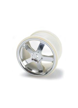 Wheels, Hurricane 3.8 (chrome) (2) (also fits Maxx series), TRX5373