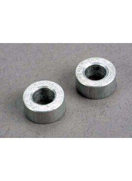 Spacers, aluminum, 5x9x4mm (2)
