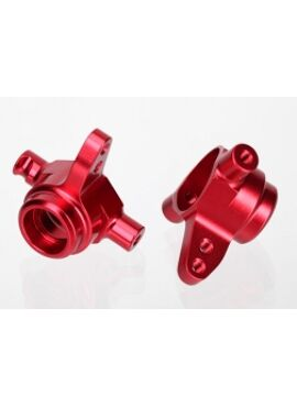 Steering blocks, 6061-T6 aluminum, left & right (red-anodize, TRX6837R