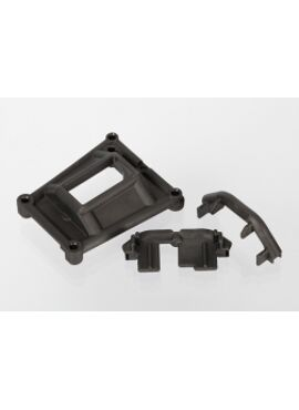 Chassis braces (front and rear)/ servo mount, TRX6921