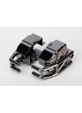 Bumper, front (black chrome) (left & right), TRX6935