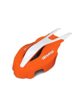 Canopy, front, orange/white, Aton