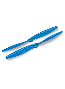 Rotor blade set, blue (2) (with screws), TRX7929