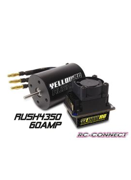 Yellow-RC Rush Brushless Combo 60A 4350kV
