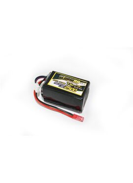 Yellow RC LiPo Receiver Pack Hump 2500mAh 7.4V