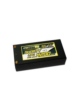 YellowRC LiPo 60C 4200mAh 7.4 Shorty Hardcase 4mm + deans