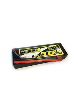 Yellow RC LiPo 5000mAh 7,4V 2S45C Hardcase Deans plug