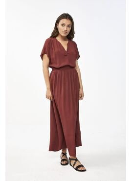 BY-BAR CREPE BLOUSE MOON