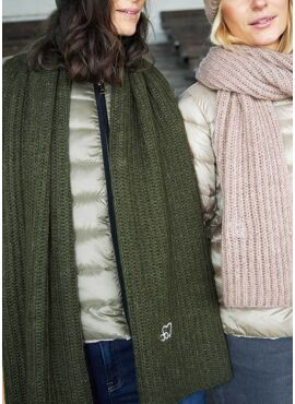 COSTER CC HEART KNITTED SCARF