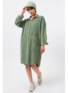 NATHALIE VLEESCHOUWER POCKET SHIRT DRESS