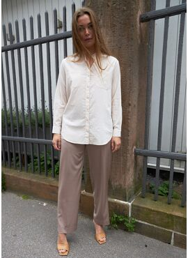 COSTER PANTS PRESS FOLD SATEEN