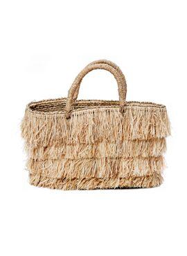 Raffia bahamas bag