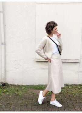 Saah leather skirt