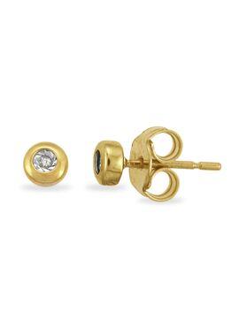 Oorbellen in wit goud 18 karaat met diamant 0.01 karaat (potzetting)