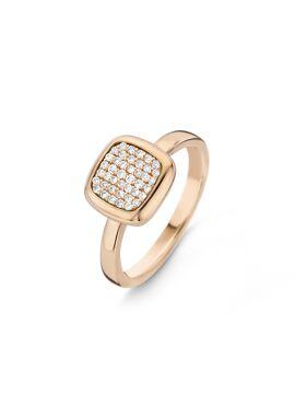 Pantelleria ring in 18 Kt rosé goud gezet met 42 diamanten
