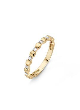 Ischia Basics ring in 18 Kt geel en wit goud met diamanten