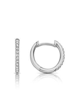 Ischia Basics creolen in 18 Kt wit goud met diamanten