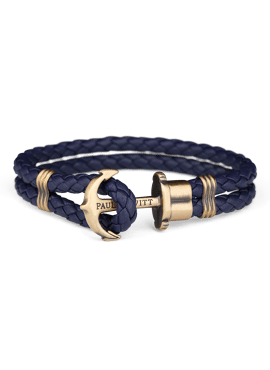 LEATHER PHREP ANCHORNAVY