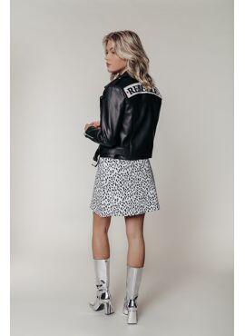 Alanna Pu Patch Biker Jacket