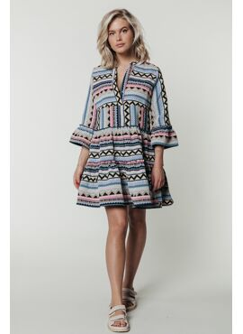 INDY jacquard boho dress