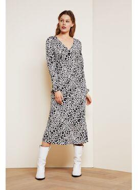 Doris Lynx Dress Leopard