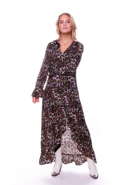 Megan Leopard High Low Maxi Dress
