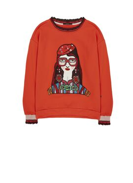 Sweater met Embroidery