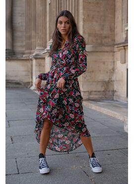 Vivian Flower Blazer Maxi-dress met bloemenprint