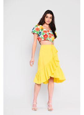 Gele rok met ruffles