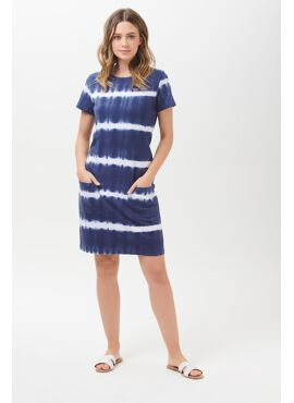 Ariane Tie Dye Marine Stripe Dress