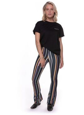 Stripe Basic Flare Pants
