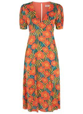 Mia Dress Tropische Bloemen