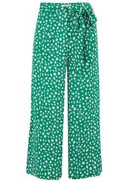 Ottilie Painterly Spot Cropped Wide Leg broek