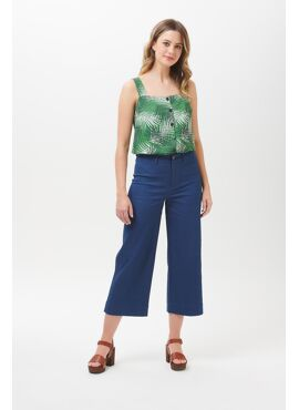 Alma Cropped Wide Leg broek