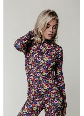 Neyo Flower Peached Top | Multicolor